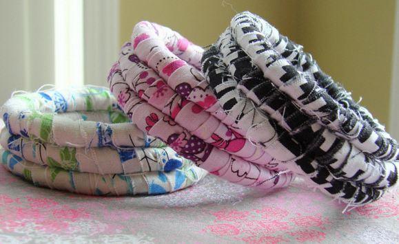 Украшения из ткани своими руками